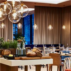 Floor No 2 Restaurant located on the 2nd floor of Warsaw Marriott Hotel