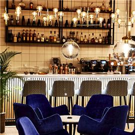 Bar with Polish alcohols at Floor No 2 Restaurant