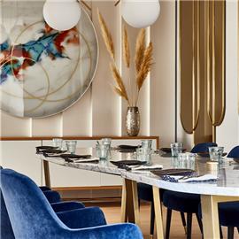 Vip room at Floor No 2 Restaurant - Warsaw Marriott Hotel